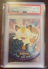 1999 Pokemon Topps TV Pokemon Mewoth Foil #52 PSA 6 Excellent