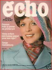 ▬► ECHO DE LA MODE 6 de 1973   --  SERGE GAINSBOURG  --