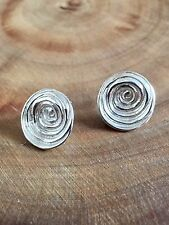 925 Sterling Silver Round Large Earrings