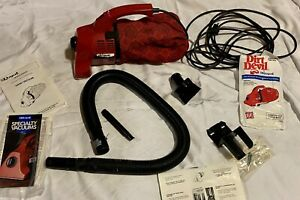Vintage Royal Dirt Devil Hand Held Vac Vacuum With Accessories - Tested Working