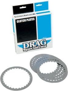 Drag Specialties Steel Clutch Plate Kit For Harley 1990-97 Big Twin, 91-2017 XL