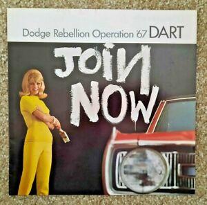 Vintage 1967 Dodge Dart Sales Brochure Catalog Rebellion Operation Mopar
