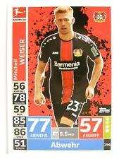 Match Attax 2018/19 Bundesliga - #194 Mitchell Weiser - Bayer 04 Leverkusen