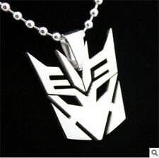 HOT transformers fashion Silver 316L Stainless Steel Titanium Pendant Necklace