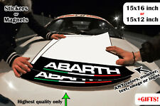 2x Abarth Fiat Door Number Plates Track Boards Decal Sticker 500 131 124 Spider