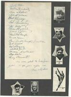 1940 Rice Football Team Signed Autograph Display 19 Signatures RARE HISTORIC LG