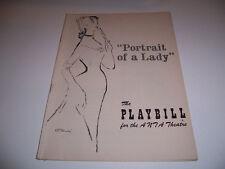 1954 ANTA THEATRE PLAYBILL - PORTRAIT OF A LADY - JENNIFER JONES ROBERT FLEMYNG