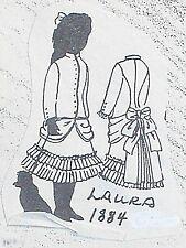 "Vintage Orig Franki's Parisian Antique  Bebe Doll Dress Patterns  LAURA  9""-25"""