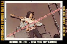 JIMI HENDRIX  HUNTER COLLEGE NYC MARCH 1968 SPECIAL LE PHOTO ORIG 8x12 HI QUAL