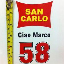 Marco Simoncelli 58 Motogp decal sticker Honda Yamaha Suzuki Kawasaki Ducati