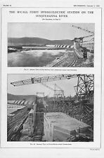 "1910 engineering print "" mc'call ferry hydro-electric station  """
