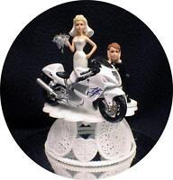 SEXY SUZUKI Diecast bike Model Wedding Cake Topper Rocket Motorcycle track