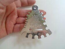 Retro Silver Coloured Metal ABEL MORRALL's Metal Knitting Pin & Tension Gauge