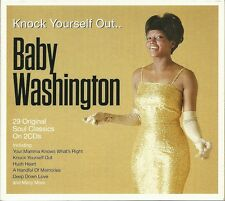 KNOCK YOURSELF OUT.. BABY WASHINGTON - 2 CD BOX SET, HUSH HEART, THE TIME & MORE