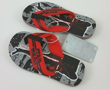 Star Wars Flip Flops 2016 Disney Store Boys Size 7/8 Black Gray Red