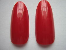 50 x RUBIS ROUGE COMPLET OVALE TÊTE/ ROND STILETTO totalité ONGLE