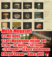 AnimaI Crossing New Horizons Mush Megaset! AC NH DIY+MUSHROOM+GOODIES!