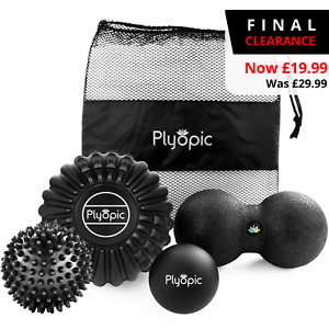 PLYOPIC MASSAGE BALL SET – Relieve Muscle Pain, Release Knots, Improve Mobility