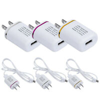 US Plug Wall USB Charger + Type-C USB Cable Charging For ZTE Zmax Pro Z981