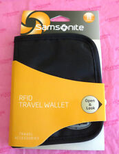 New - Samsonite travel / business Black RFID Travel Wallet