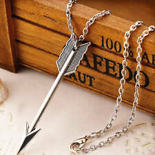 Arrow Charm silver Alloy pendant Necklace chain Fashion jewelry Family & Friends