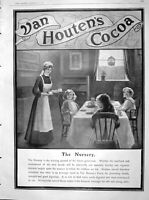 Original Old Antique Print 1904 Advertisement Van Houten'S Cocoa Children Drink