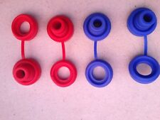 Hi Temp Red/Blue Snapper Exhaust Grommet W/ Washer anti-vibration Insulator-4 Pc