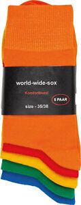 5-20 Paar bunte farbige Socken Baumwolle für Damen und Herren Komfortrand