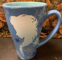 DISNEY Store ANNA and ELSA SILHOUETTE Mug FROZEN Keep Calm BLUE Cup 12 oz.