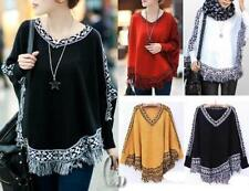 Poncho Regular Medium Knit Jumpers & Cardigans for Women