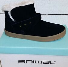 Ladies Animal Nevada Black Suede Ankle Boots