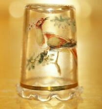 GLASS THIMBLE - PEACOCK