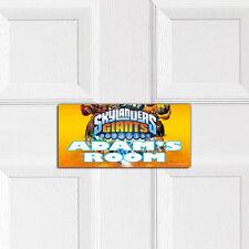 Skylanders Gigantes Personalizado Dormitorio Puerta Placa Chicos Chicas Pared Nombre Signo