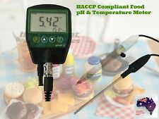 HACCP Compliant Sushi Cake Sponge Food pH and Temperature Meter (USA Brand)