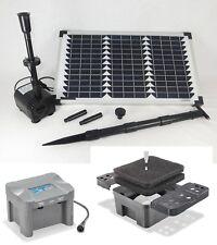 20W Solaire LED Set pompe de bassin Batterie jardin Gargouille