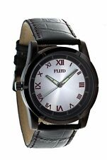 Flud Men's Gun Metal Pearl Analog Glow In The Dark Hands Watch Brand New