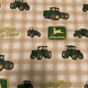 Handmade John Deere Blanket Flannel Plaid