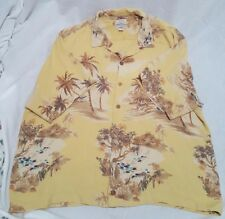 TOMMY BAHAMA Silk Hawaiian Shirt Men's XL Palm Trees Coconut Buttons Relax Fit