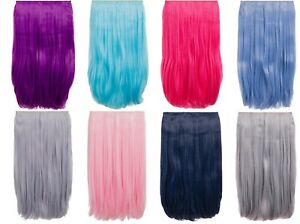 KOKO One Piece Straight Vibrant Colourful Clip in Heat Resistant Hair Extension