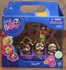 Littlest Pet Shop 2009 VERY RARE Puppies Petriplets #1338 #1339 #1340 Dog Set