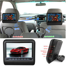 "9"" Black Car Headrest Monitors DVD Player/USB/HDMI/Games Remote Control"