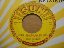 "USA   SUN 45   Jerry Lee Lewis   ""Whole Lot Of Shakin ` Going On""  SUN  267  EX"