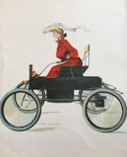 F. EARL CHRISTY RARE AUTOMOBILE GIRL PRINT 1902