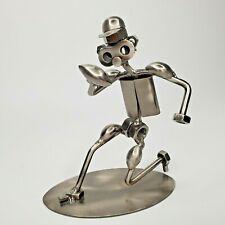 Scrap Metal Football Player Figurine