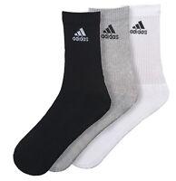Adidas Chaussettes Crew Course Homme Femme 3-Stripes 3 Paire Entraînement Gym