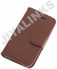BROWN WALLET CASE COVER PU LEATHER FOR APPLE iPHONE 4 4S