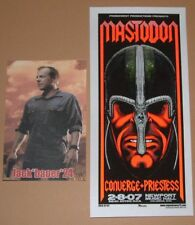 Mastodon Converge Columbus Mike Martin Poster Handbill Print 2007