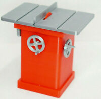 RC 1/10 Scale Table Saw RED Shop Garage Crawler Doll Accessories