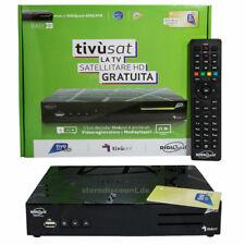 Tivusat HD SAT Receiver + Aktivierte Karte Gold Decoder Digiquest 6996 TivuON