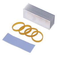 M.2 NVMe Aluminum Heatsink Cooling Dissipation Solid State Hard Drive Radiator#